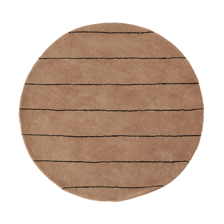 Striped Teppich Ø 120 cm von OYOY in choko
