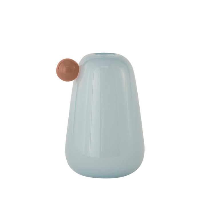 Inka Vase Small, H 20 cm von OYOY in eisblau