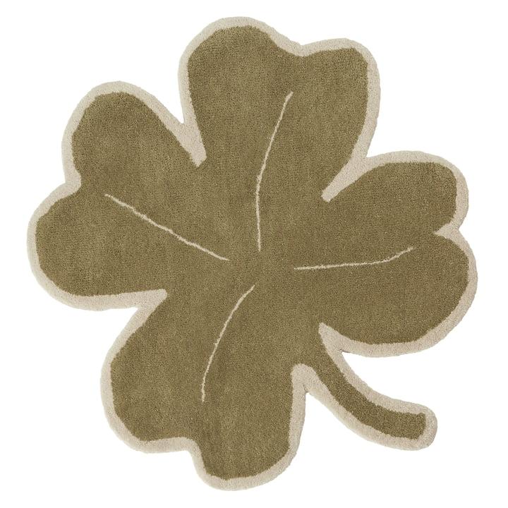 Lucky Clover Kinderteppich von OYOY in grün