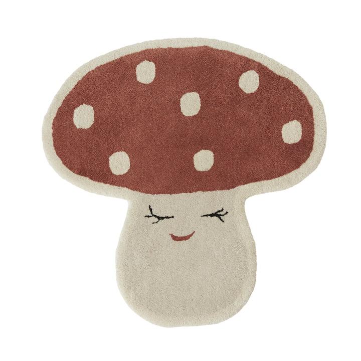 Malle Mushroom Kinderteppich von OYOY in rot