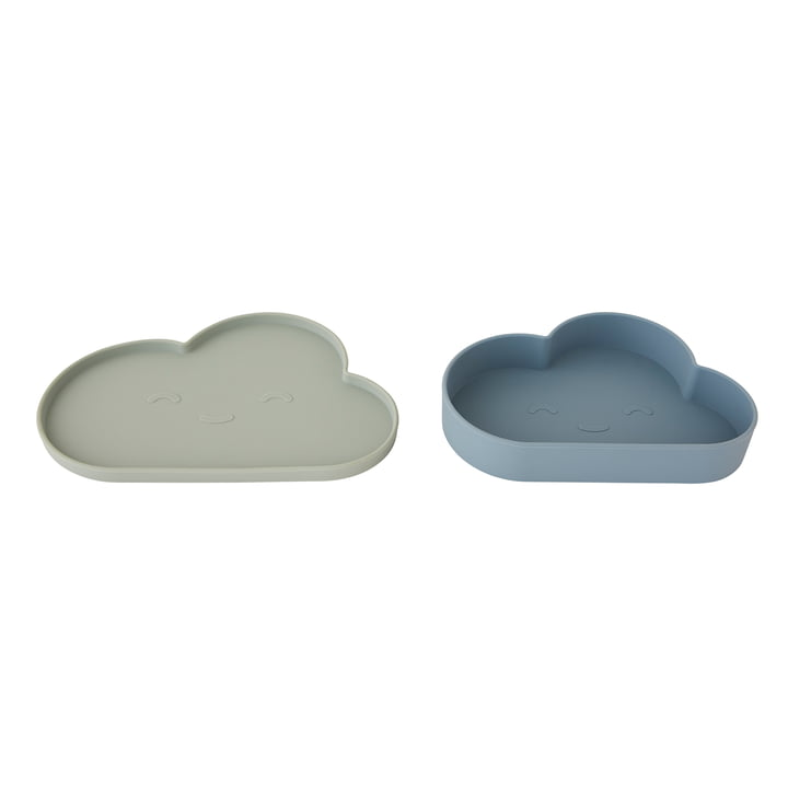 Chloe Cloud Snack Set von OYOY in blau / minze