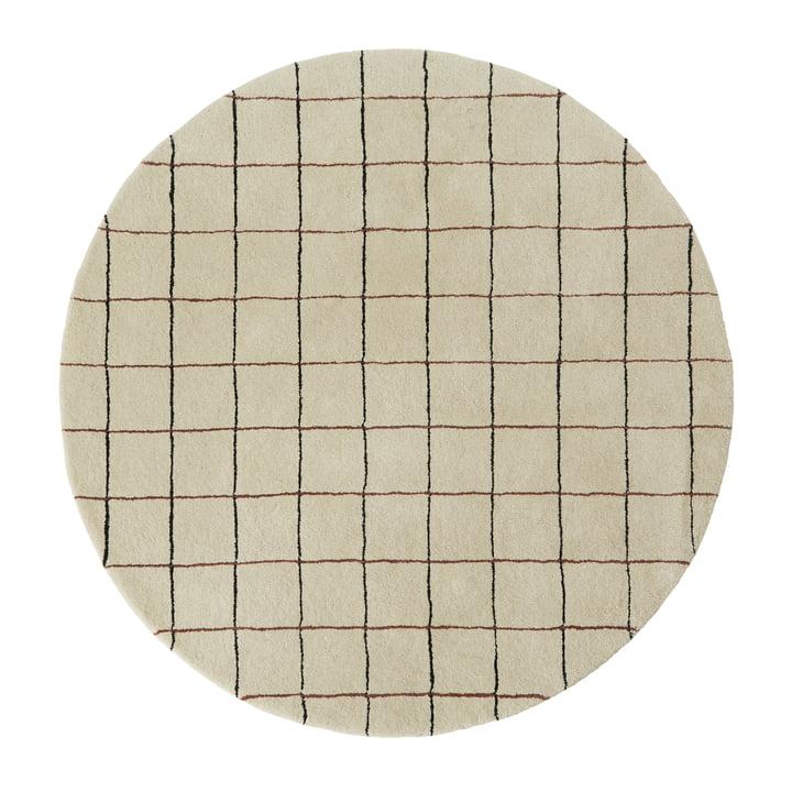 Grid Teppich Ø 140 cm von OYOY in offwhite