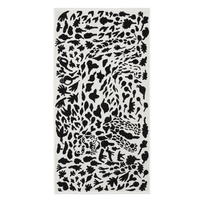 Oiva Toikka Badetuch 70 x 140 cm von Iittala in Cheetah schwarz / weiß