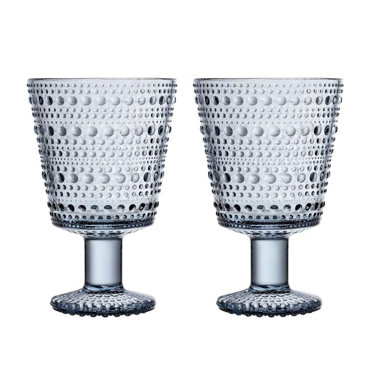 Kastehelmi Trinkglas mit Fuß 26 cl von Iittala in der recycled Edition (2er-Set)
