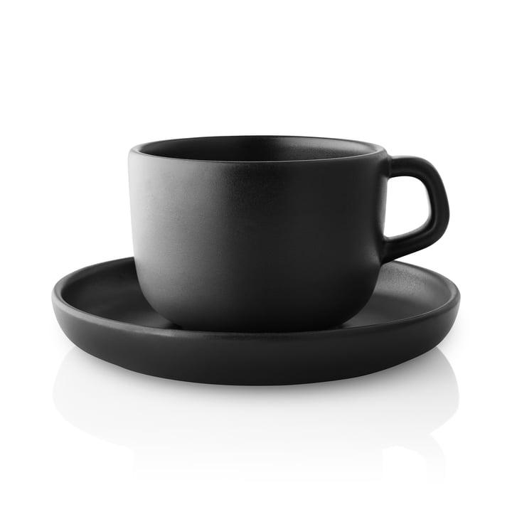 Nordic Kitchen Tasse mit Untertasse von Eva Solo in schwarz