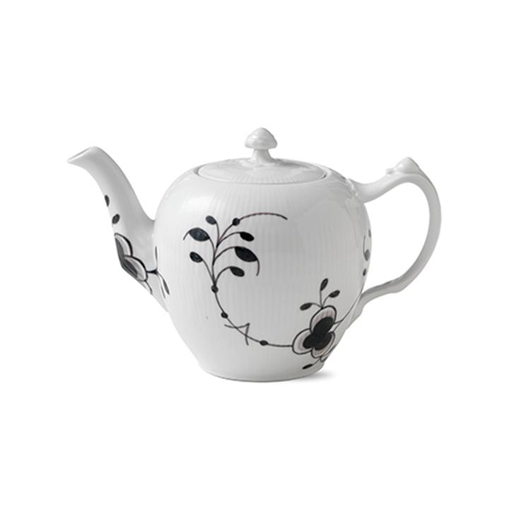 Mega Schwarz Gerippt Teekanne von Royal Copenhagen
