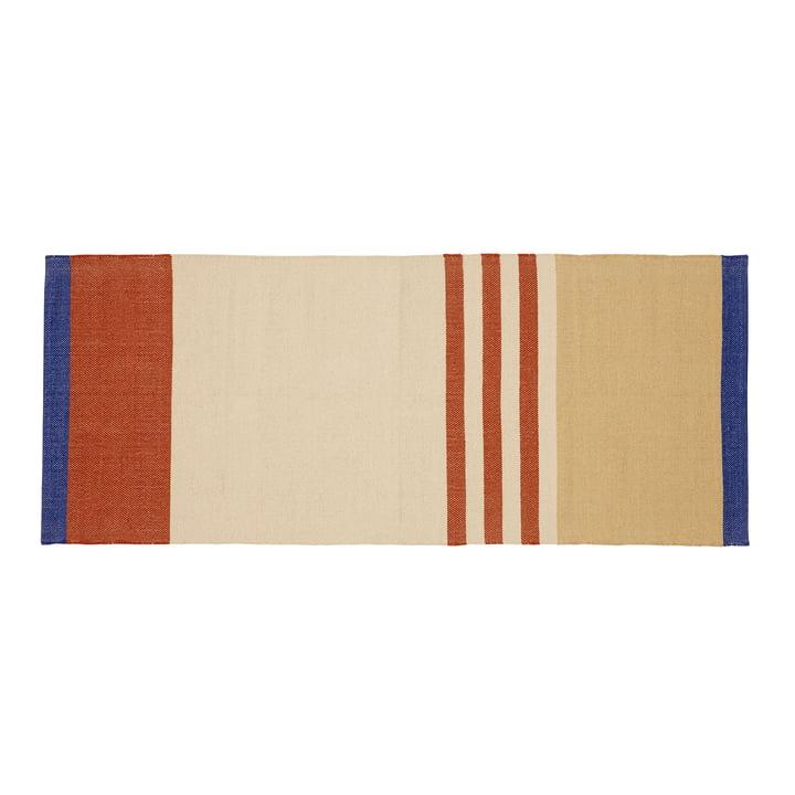 Gestreifter Teppichläufer 80 x 200 cm, mehrfarbig von Hübsch Interior