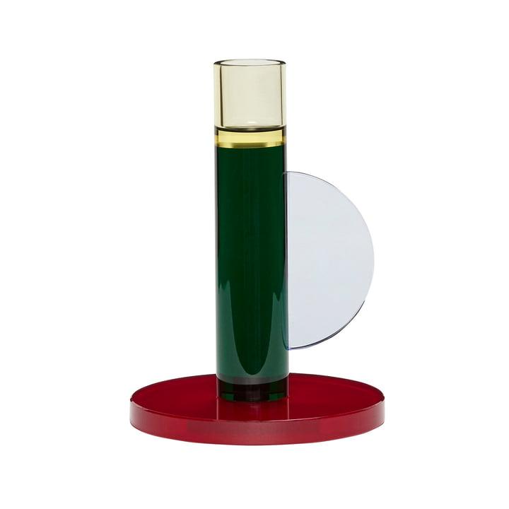 Kristall Kerzenhalter, dunkelrot / grün von Hübsch Interior