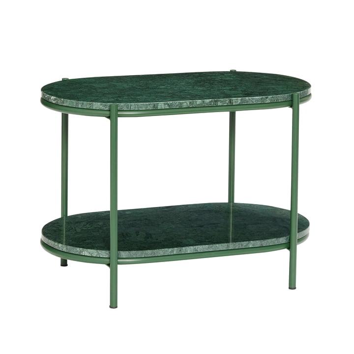 Marmor Beistelltisch, grün von Hübsch Interior