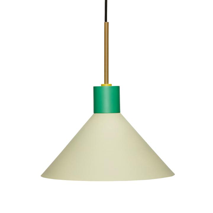 Metall Pendelleuchte von Hübsch Interior in grün / braun
