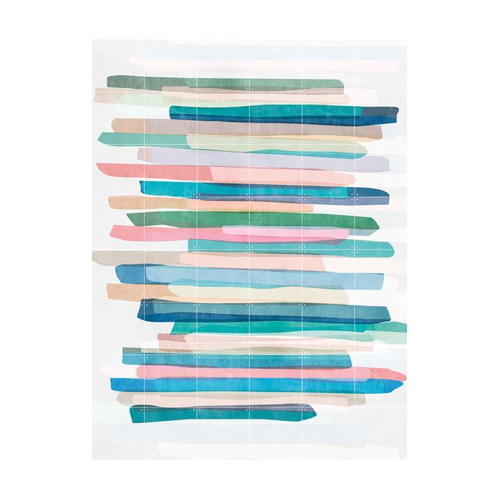 Pastel Stripes Wandbild von IXXI