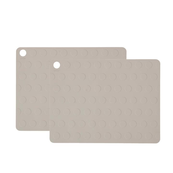 Dotto Platzsets von OYOY 34 x 45 cm, grau (2-tlg.)