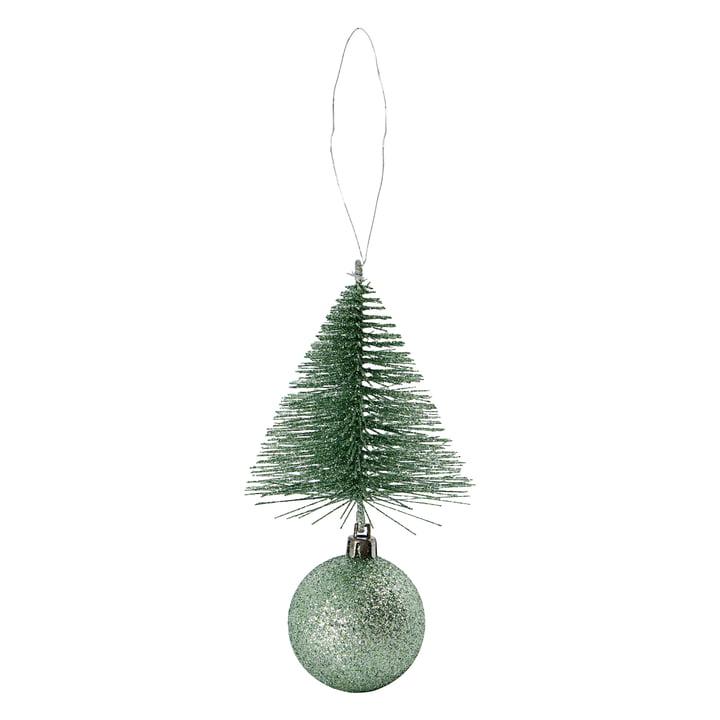 Christbaumschmuck Baum & Kugel von House Doctor in der Farbe dusty green