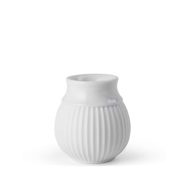 Curve Kerzenhalter H 7 cm, weiß von Lyngby Porcelæn