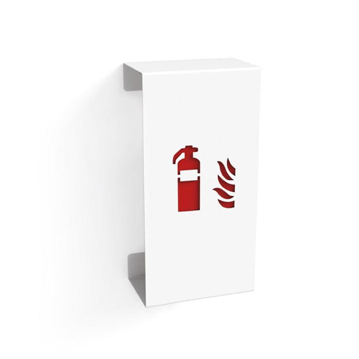 Fire Feuerlöscherhalter Klein von Konstantin Slawinski in Weiß