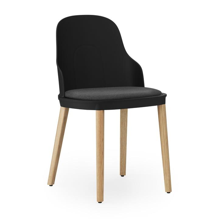 Allez Stuhl Eiche gepolstert von Normann Copenhagen in Canvas / schwarz