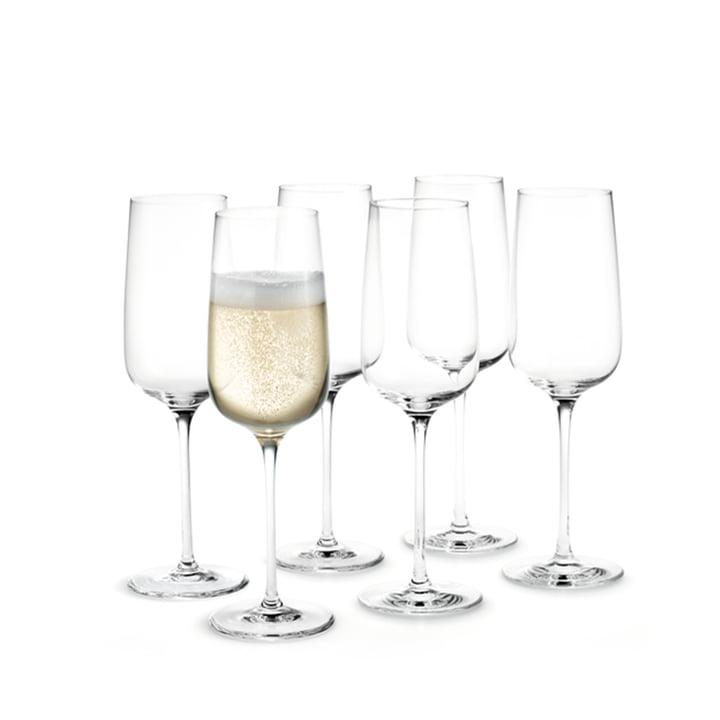 Bouquet Champagnerglas 29 cl von Holmegaard in klar (6er-Set)
