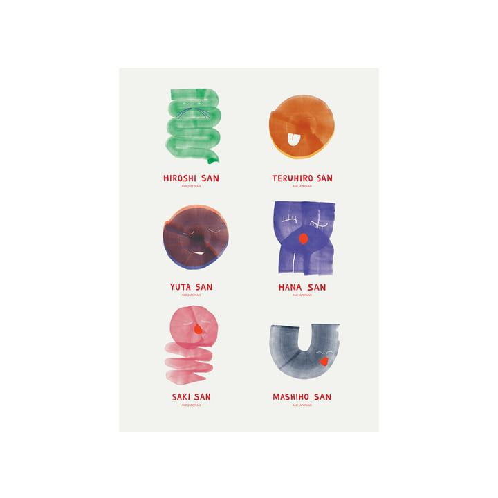 Amis Japonais Poster 50 x 70 cm von Paper Collective