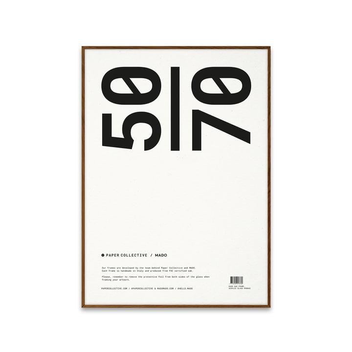 Bilderrahmen 50 x 70 cm von Paper Collective in Eiche dunkel