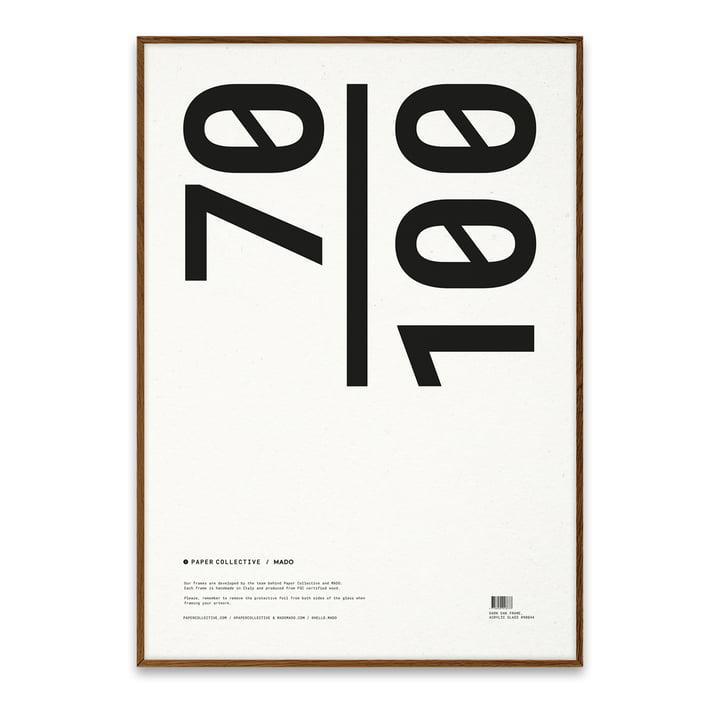 Bilderrahmen 70 x 100 cm von Paper Collective in Eiche dunkel