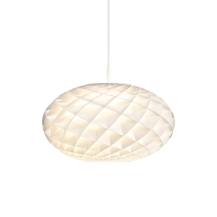 Patera Pendelleuchte oval Ø 50 cm von Louis Poulsen in weiß