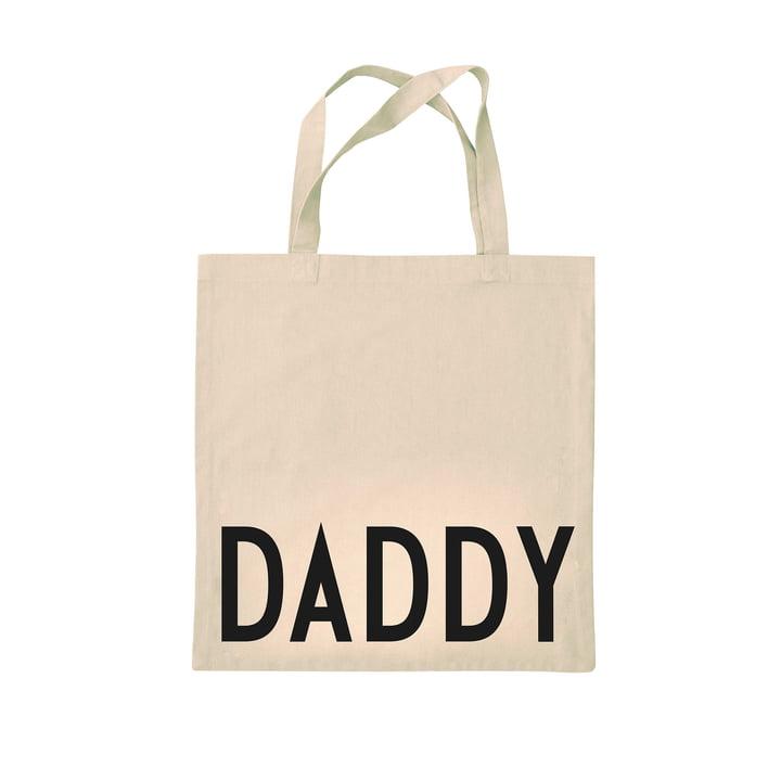 AJ Favourite Tragetasche von Design Letters in Dad / off-white