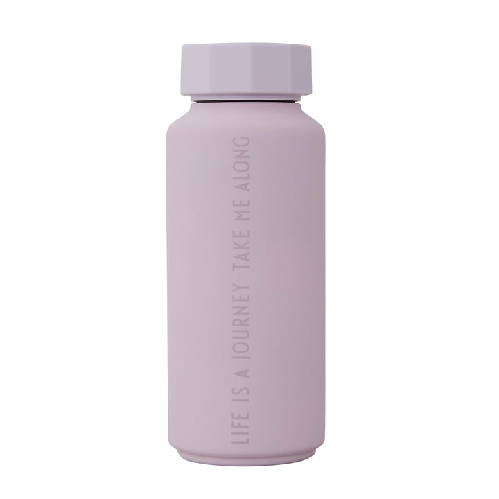 AJ Thermosflasche Hot & Cold 0,5 l von Design Letters in Life Is A Journey Take Me Along / lavendel