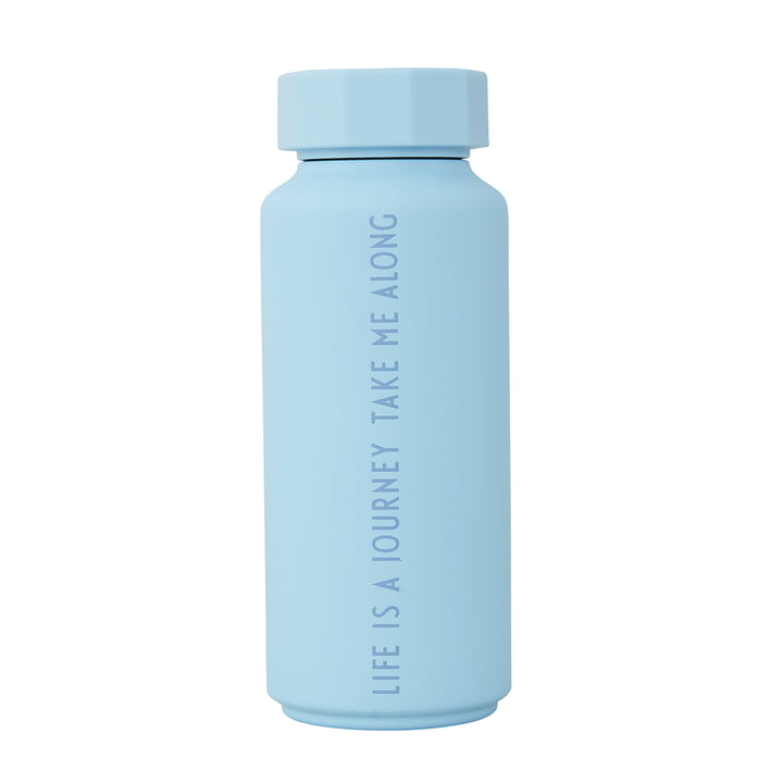 AJ Thermosflasche Hot & Cold 0,5 l von Design Letters in Life Is A Journey Take Me Along / light blue