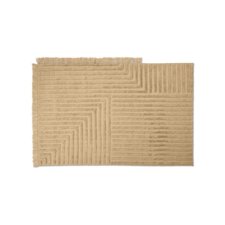 Crease Teppich aus Wolle von ferm Living in der Farbe light sand
