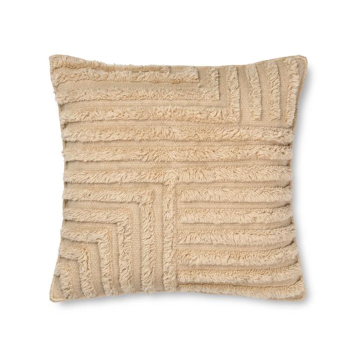 Crease Kissen aus Wolle von ferm Living in der Farbe light sand
