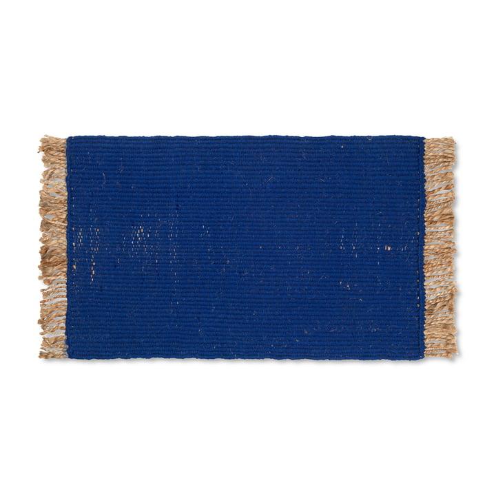 Block Fußmatte von ferm Living in der Farbe blau