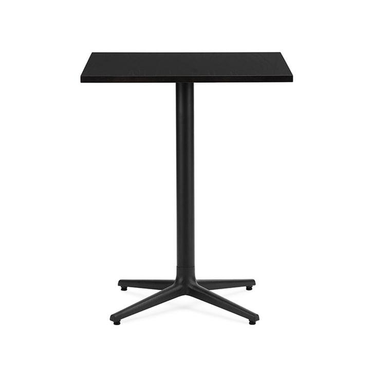 Allez Tisch 4L H 75 60 x 60 cm von Normann Copenhagen in Eiche schwarz