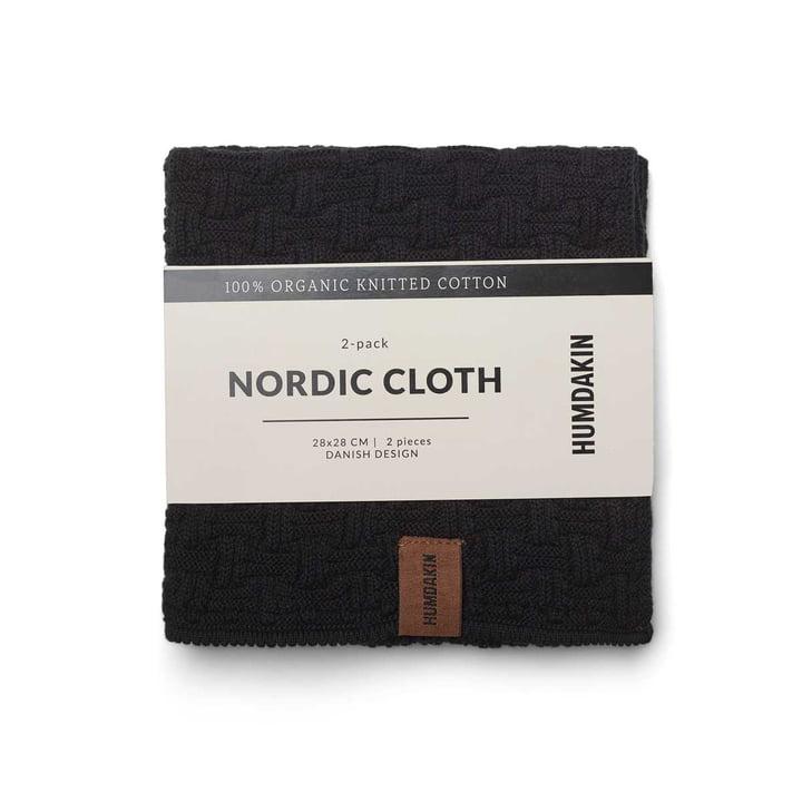 Nordic Spültuch, 28 x 28 cm von Humdakin in coal (2er-Set)