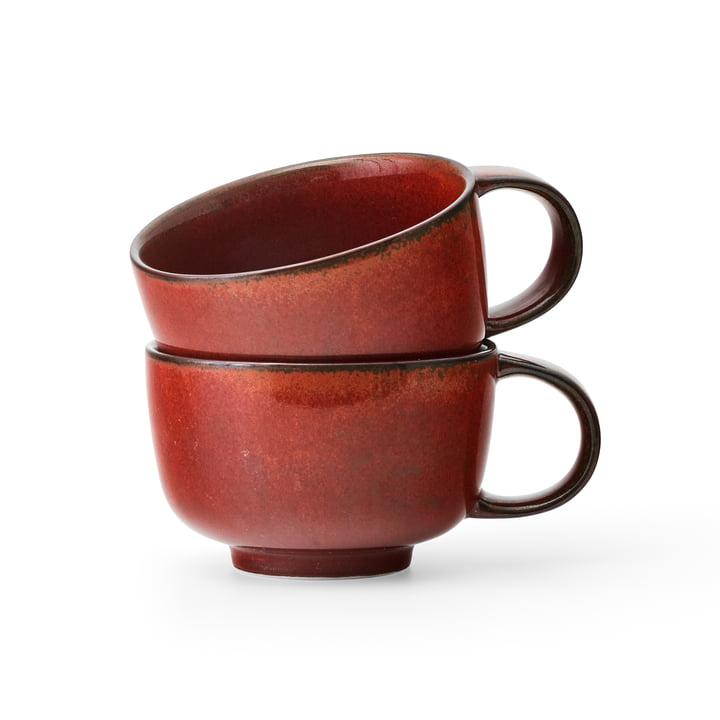 New Norm Tasse 2er-Set, 250ml, red glaze von MENU