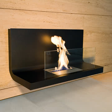 Wall Flame Kamin von Radius Design