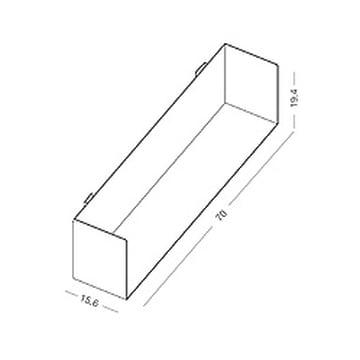 Maße des linea1 a Bücher- und DVD-Regal