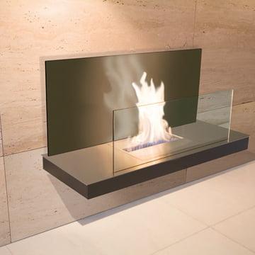 Wallflame II - Edelstahl/ Glas, schwarz