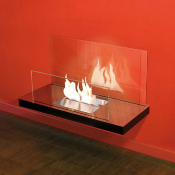 Wallflame II - Edelstahl, hochglanz/ Glas, klar