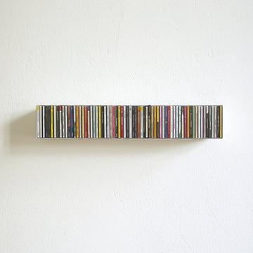 linea1 b _ CD-Regal in weiß für 67 CDs