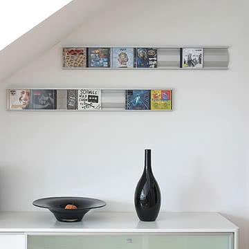 Perfekte Ergänzung für Designmöbel: Sigmarail Aluminium CD Regalsystem (SR7)