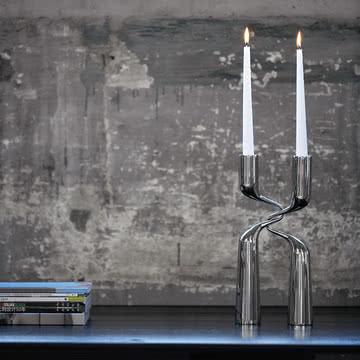 Edles Doppel: Menu Double Kerzenständer