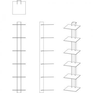 Anleitung zum Aufbauen des Bücherturms