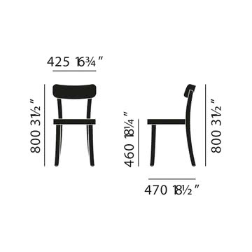 Vitra - Basel Chair - Abmessung