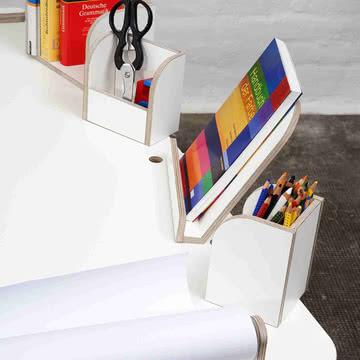 Growing Table - Bücherboard, Buchaufsteller, Stiftbox, Zettelbox