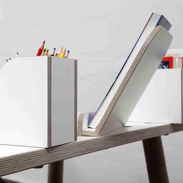 Growing Table - Bücherboard, Buchaufsteller, Stiftbox