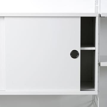 String Regalsystem Schrank mit Schiebebtüren, weiß