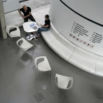 Der Vad Stuhl im Museumsbereich