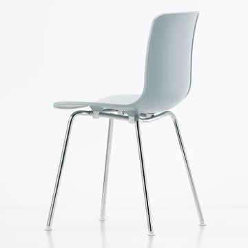Hal Tube Stuhl von Vitra in Weiß/Chrom
