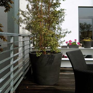 amei - Der Runde Pflanzgefäß, Ambiente, schwarz