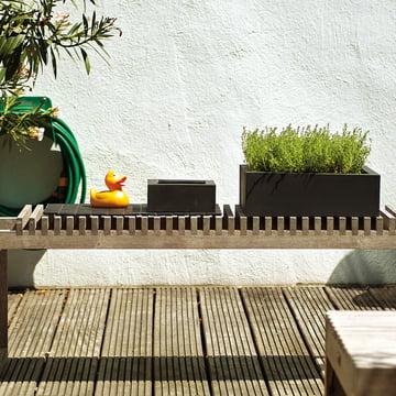 amei - Der Quadratische Pflanzgefäß, Ambiente, schwarz